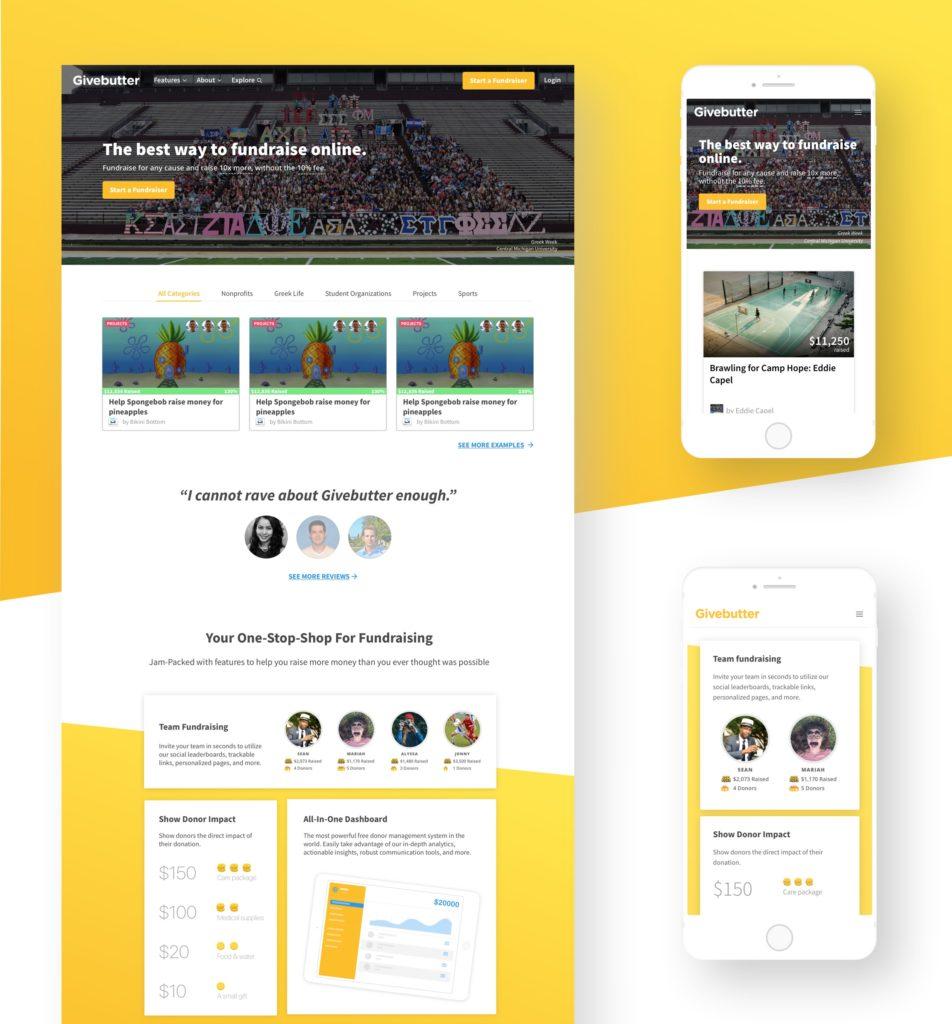 Givebutter — Desarrollo HTML/CSS